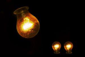 Light bulbs barely lit do show the need for hand crank flashlight